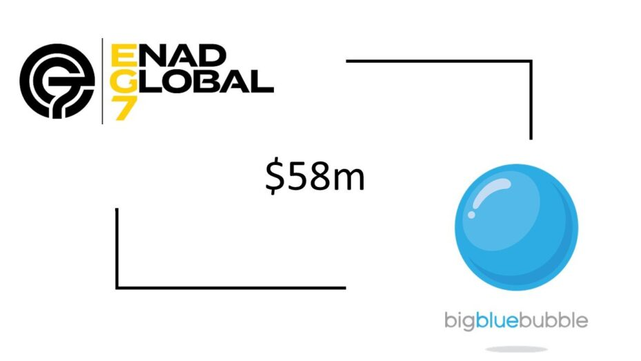 EG7 Acquires Big Blue Bubble For Up To $58m